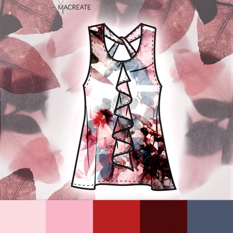 soft floral print design by MACREATE