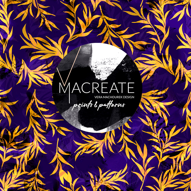 colorful leave print design by MACREATE