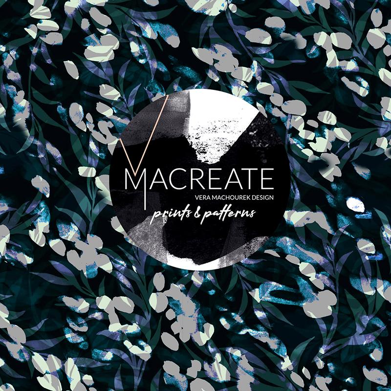 floral print design by MACREATE