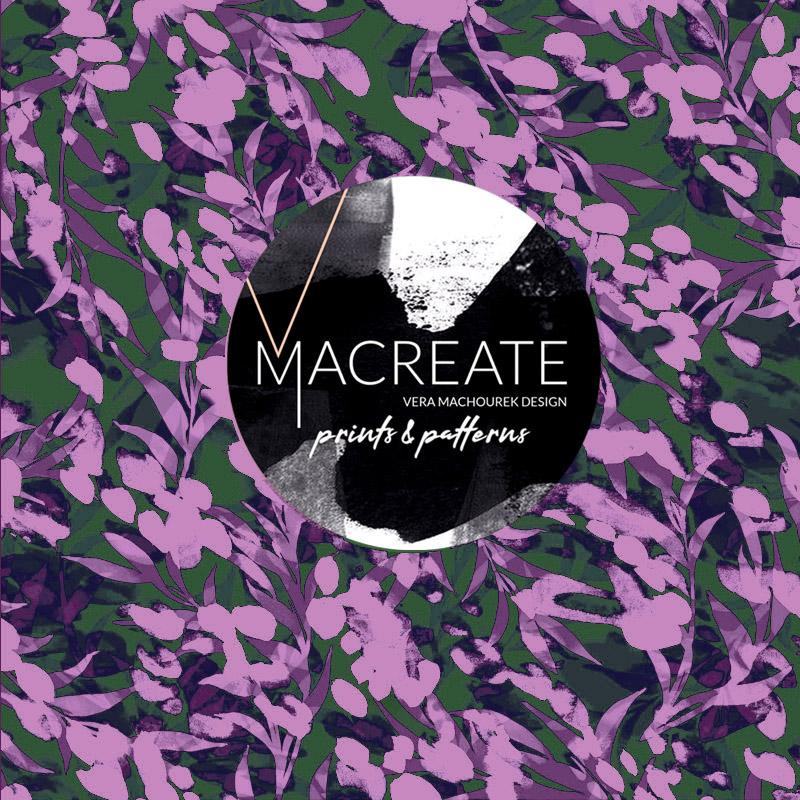 romantic floral print design by MACREATE
