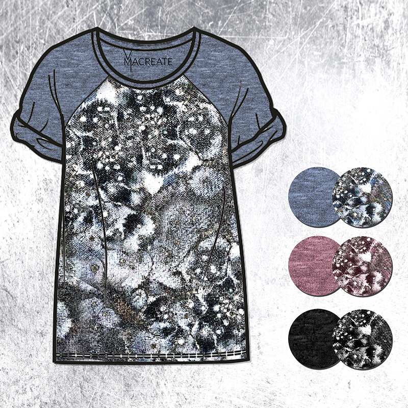 handdrawn abstract ink art design by MACREATE on t-shirt