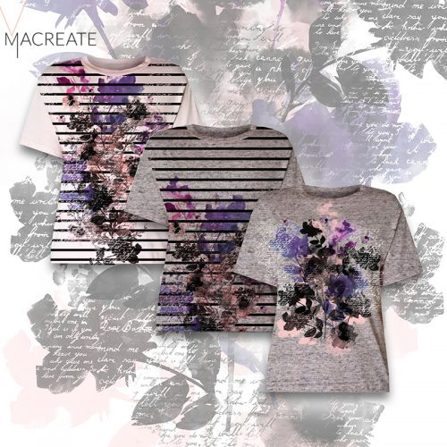 floral classic womenswear print t-shirts by MACREATE