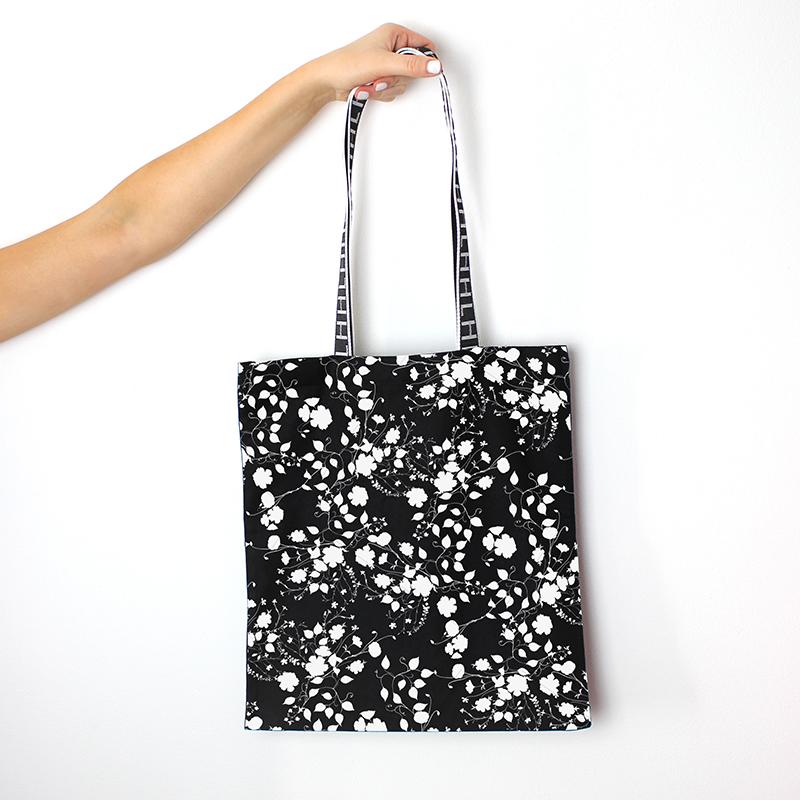 flower printed shopping bag by MACREATE