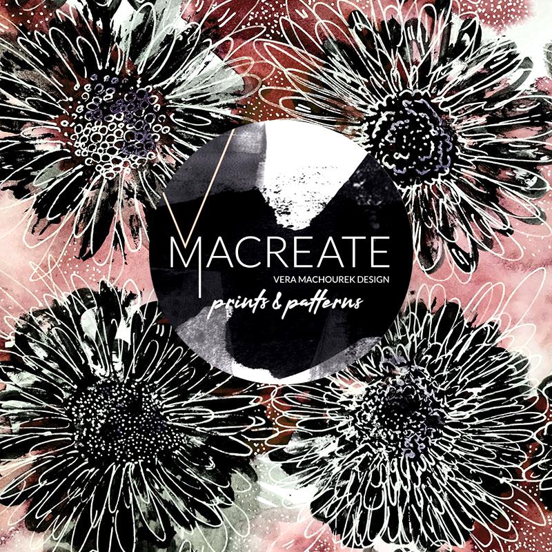 artistic flower allover print by MACREATE design
