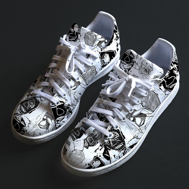 Artistic sneaker print design by MACREATE