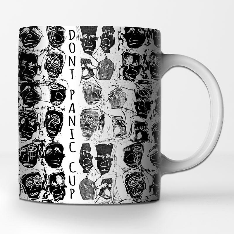 Artistic seamless pattern by MACREATE on coffee mug