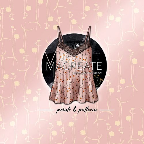 Floral summer fashion top by MACREATE Design