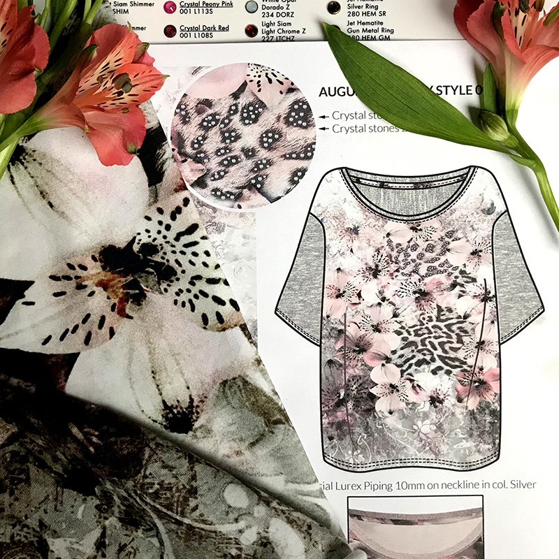 womenswear shirt by MACREATE with flowerprint and leo elements