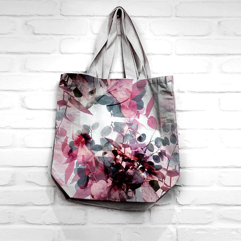 floral digital print on shopping bag by MACREATE