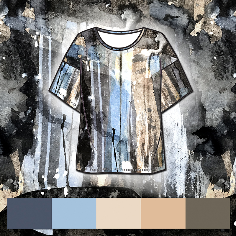 artistic shirt print design by MACREATE