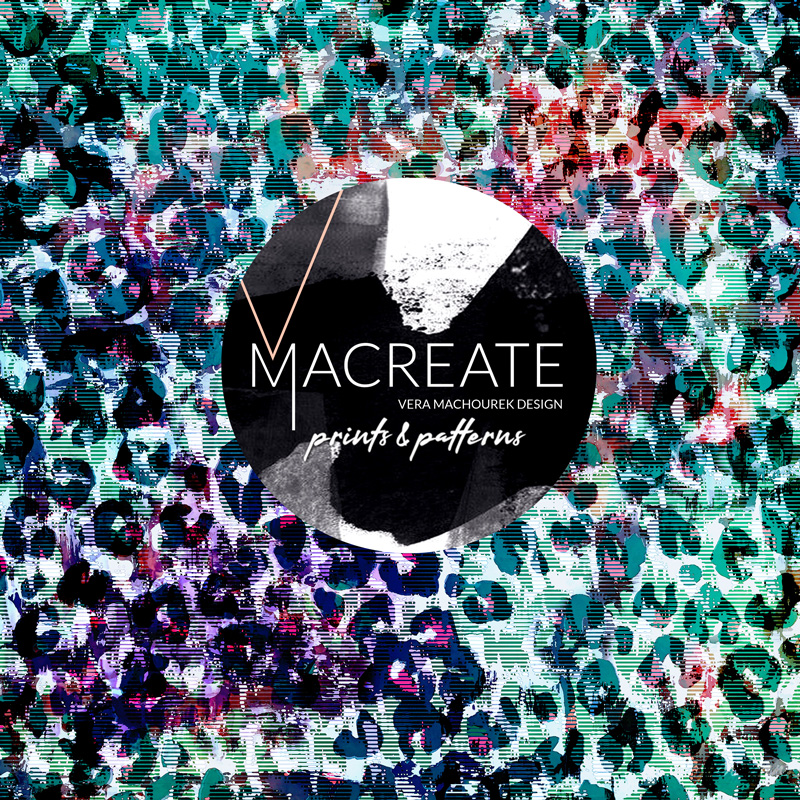 artistic Leopard animal print design by MACREATE in saturated hues